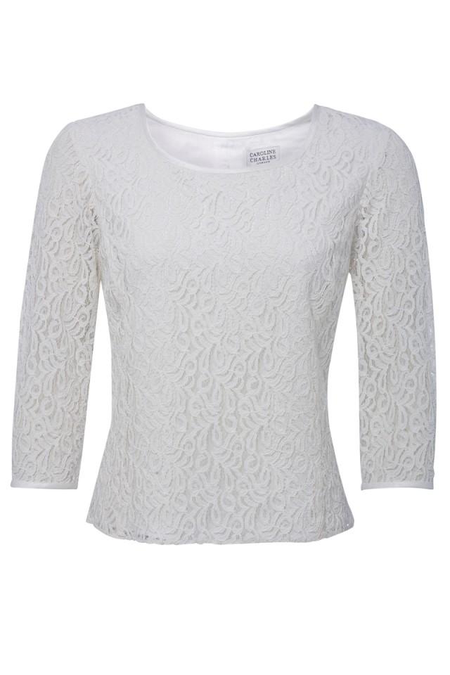 Lace Sweater Ivory - Caroline Charles Caroline Charles de5125bcb