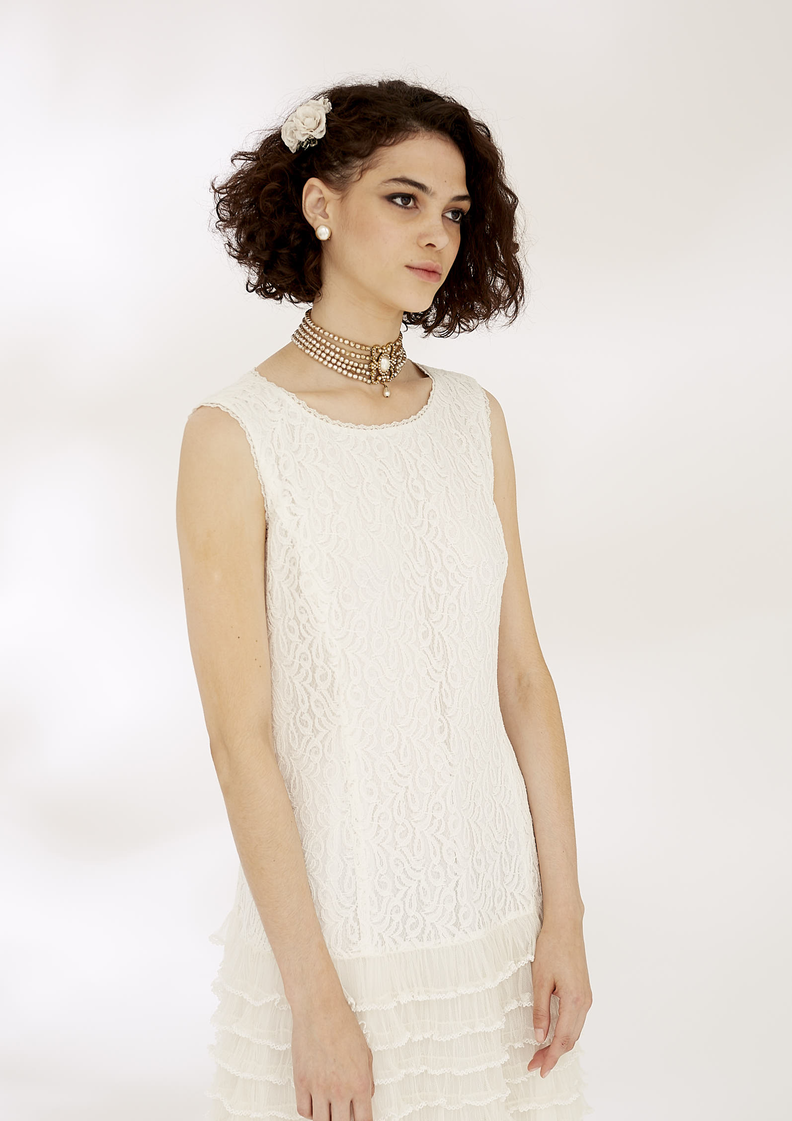 VICTORIA LACE DRESS - IVORY